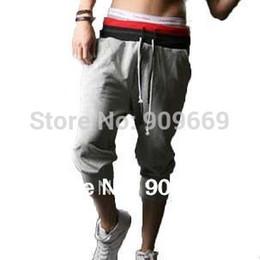 Wholesale Gray Black Jersey - Wholesale-Gray black red white best mens pants athletic men jersey active pants 2015 TRK19B