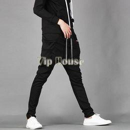 Wholesale Slack Rope - Wholesale-New Arrival 2015 Men's Casual Stylish Rope Long Sporting Sweat Baggy Pants Training Trousers Jogging Harem Slacks 25