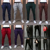 Wholesale Slack Rope - Wholesale-8 Colors Mens Jogging Baggy Korean Hip Hop Harem Pants Casual Brand Loose Pants Slacks Trousers Rope Waist Free Shipping