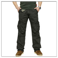 Wholesale Travel Pants For Men - Wholesale-New brand mens Cargo pants washed overalls men outdoor casual Combats Work trousers for Camp travel