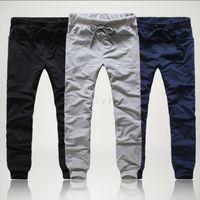 Wholesale Sport Cargo Pants For Men - Wholesale-Free shipping Casual cargo pants for Men Fashion Baggy HIPHOP Dance Sport joggers Men Sweat harem pant 2015 new#10 24