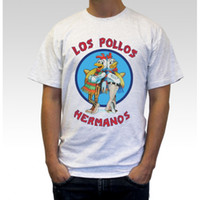 Wholesale Los Pollos Hermanos Print Tshirt For Men Women Cotton Breaking Bad Casual White Shirt Top Tee S XXXL Big Size