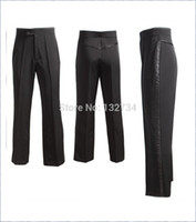 Wholesale Men S Latin - Wholesale-NEW Black Men's Latin Ballroom,Salsa,Tango Latin Dance Pants P-0001