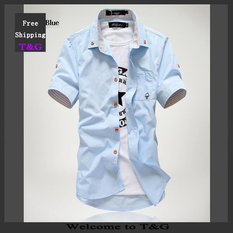38d8af690e01 2019 Wholesale 2015 New Style Mens Fashion Casual Short Sleeve Shirts Men  Button Down Cotton Summer Shirt For Man From Stylenew