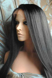 """Wholesale Swiss Lace Make Wigs - Gorgeous 18""""-22"""" Silky Straight #1 Glueless Swiss Lace Front Human Hair Wigs 100% Indian Remy Hair"""