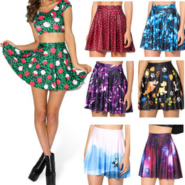 Wholesale Game Thrones Galaxy - Wholesale-2015 Pleated Skirts Womens Galaxy Game of Thrones Adventure Time Skater Skirt High Waist Skirt Mini Skirts Women's Clothing