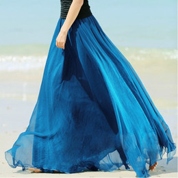 Silk Chiffon Maxi Skirt Online | Silk Chiffon Maxi Skirt for Sale