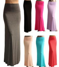 41f80fb2fa Wholesale-2015 de las nuevas señoras sólido de la cadera color de la gasa  delgada larga cola de pez modelos de faldas Específicamente manera de las  mujeres ...