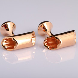 Wholesale Gold Plated S4 - Wholesale-Free shipping S4 The new hollow men cufflinks cufflinks fast shipping high quality rose gold plated