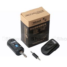 Стробоскопия онлайн-Wholesale-Radio Wireless Flash Trigger Set camera Hot Shoe Mount for Outdoor/Studio Strobe Light with 3.5/6.35mm Sync Jack Photography