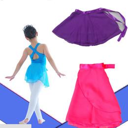 Wholesale Children Ballet Dance - 1PCS Candy Children Kids Girl Ballet Tutu Dance Skirt Skate Wrap Chiffon Hot 5 Colors Free Shipping