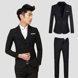 Discount Korean Men S Slim Fit Suit | 2017 Korean Men S Slim Fit ...