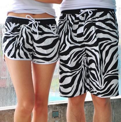 Оптовая-2015 новая мода пляжные шорты для женщин и мужчин плавание зебра спортивные шорты мужские свободные любителей брюки пары мужчины женщины