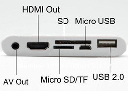 Wholesale Ipad Docking Hdmi - Wholesale-6 in 1 Card Reader HDMI Dock Adapter AV USB Cable Camera Connection Kit For IPAD IPAD2 iphone4 iPhone4S