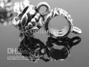 400 stks / partij Groothandel Jewerly Borgtocht Spacer Kralen voor Armband en Ketting Big Hole Bead voor Armband