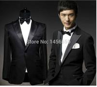 Wholesale Girdle Bow Bridegroom - Wholesale-Men's suits jacket+pants+girdle+bow bridegroom wedding suits groom suits