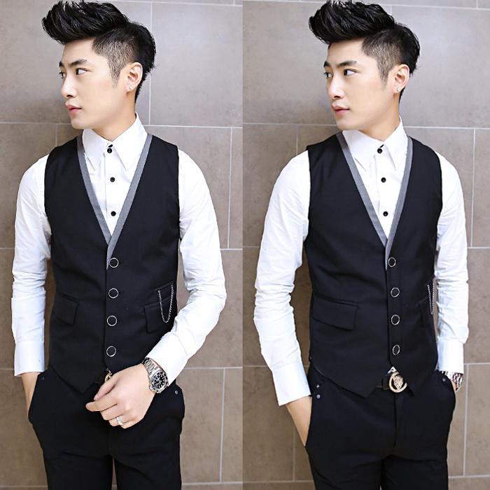 2017 Wholesale Uk Style Men Suit Vest 2015 New Arrival Slim Fit ...