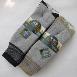 Wholesale Knee High Mens Black Boots - Wholesale-Big Size Thick Men's Wool Socks Winter Men Thermal Sock High Quality men Boot socks Thermo black Mens Crew Hiking socks for