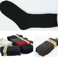 Wholesale Thick Red Wool Socks - Wholesale- Lamb Wool Mens Winter Outdoor Sports Sock Multi Colors Thick Boot Sock