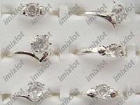 Wholesale China Wholesale Jewerly - Rings Jewelry Fashion Ring Mixed Lots 50pcs Beautiful 925 Silver Plated Rings Women CHarm jewerly Free [SI27*50]