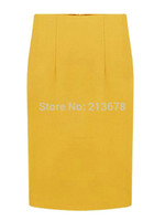 Wholesale Lady S Stockings - Wholesale-Women High Waist Long Pencil Midi Skirt Stretchable OL Ladies Work Wear S-XLarge In Stock Free Shipping