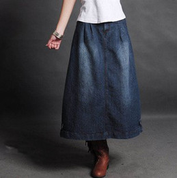 Wholesale Busted Clothing - Wholesale-Hot-selling 2015 bust skirt natural all-match 100% cotton denim skirt women's clothing