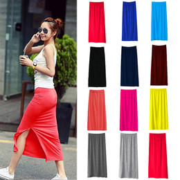 Discount Long Fitted Skirts Slit | 2017 Long Slit Fitted Skirts on ...