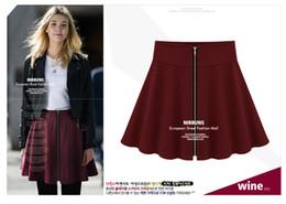 Wholesale Ladies Pettiskirt Skirts - Wholesale-2015 Autumn - Winter European and American Style Women Zipper Pleated Bust Skirts Lady Short Skirt Pettiskirt Wild Slim skirts
