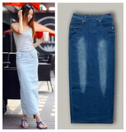 Where to Buy Plus Size Long Denim Pencil Skirt Online? Buy Cheap ...