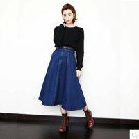 Best Long Vintage Denim Skirt to Buy   Buy New Long Vintage Denim ...