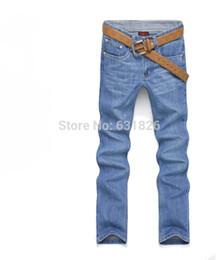 Wholesale Designer Perfume Men - Wholesale-2015 New Mens Jeans,perfume men Large Size Designer Straight Jeans calca jeans masculina osklen