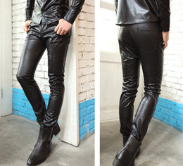 Wholesale Look Punk Casual - Wholesale-New Men's Punk Gothic Snake Look Fashion Cool Slim Fit Casual Street Pants Trousers Black