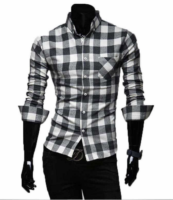Online Cheap Wholesale Check Men'S Shirt Flannel Men Shirt Long ...
