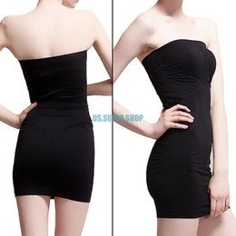 All'ingrosso-Nero Intimo seamless Body Waist Tummy Shaper Mini Tube Top Dress S M L XL EQ6278