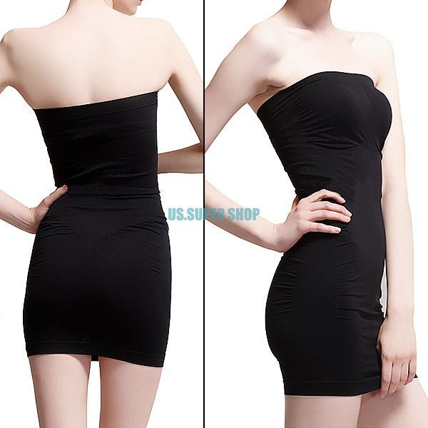 Wholesale-Black Seamless Unterwäsche Körper Taille Bauch Shaper Mini Tube Top Kleid S M L XL EQ6278