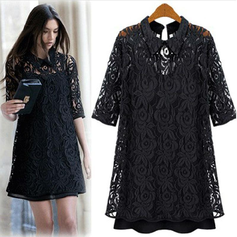 Wholesale-XXXL 4XL 5XL Plus Size Lace Dresses With Camis Women ... 285205c9bf73