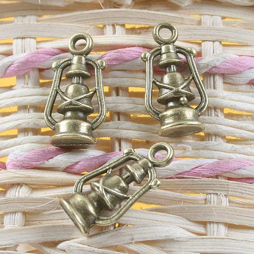 bronze antique huile de design pendentif lampe à huile charme G648