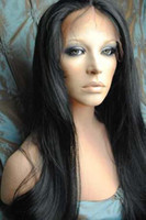 """Wholesale Half Human Hair Wig - New Gorgeous 16""""-20"""" #1 Silky Straight Glueless Lace Front Human Hair Wigs 100% Indian Remy Hair"""