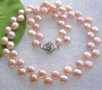 Wholesale Pink Fresh Water Pearl Necklace - Graceful Pink Fresh Water Pearl Necklace