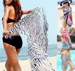 Wholesale Bikini Sarongs Leopard - Wholesale-Spring 2015 new collection Sarong Leopard Zebra Floral Print Cover ups tourism pareo clothes for the beach bikini sets drop ship