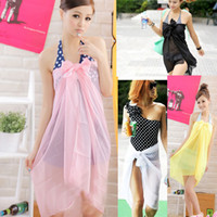 Wholesale Cheap Lycra Bathing Suit - Wholesale-Free shipping dresses new fashion 2015 see through bathing suit sexy beach wrap dress cheap cover ups for women