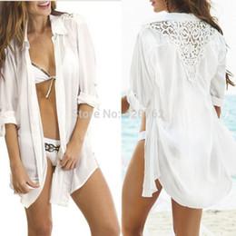 758c53358 Wholesale-New 2015 Summer Women Ladies Casual Loose Bathing Suit Crochet  Back Lace Bikini Swimwear Cover Up Beach Dress Beachwear