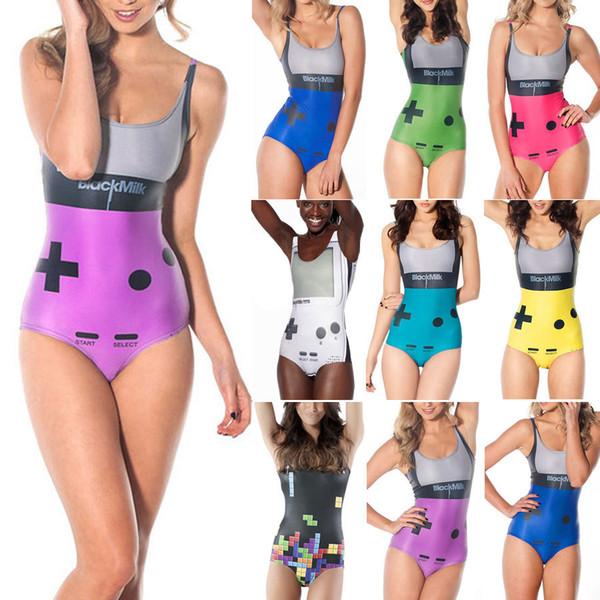65bd610bcf Wholesale-Black Milk Swimwear 2015 Sexy One Piece Swimsuits Black Milk  Gamer Swimwear for Women