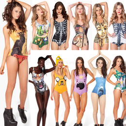 1198f5439cd30 Skull Swimsuit Women Canada - Wholesale-Sexy Fashion One Piece Swimsuit  Swimwear Women Bodysuit Skull