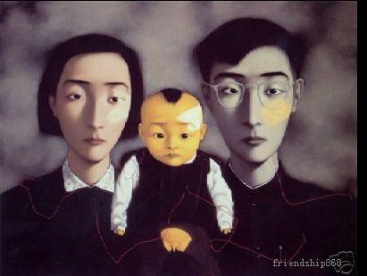 Pintura al óleo del arte superior de las artesanías por Zhang Xiaogang --- 237