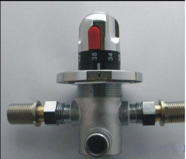 Válvula termostática de latão, válvula termostática DN15, válvula do aquecedor solar, misturador termostático