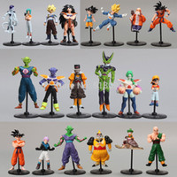 Wholesale Goku Set - Wholesale-20pcs set Dragon Ball Z GT Action Figures Crazy Party 10CM Cell Freeza Goku PVC Dragonball Figures Best Gift DBFG177