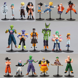 Wholesale Dragon Balls - Wholesale-20pcs set Dragon Ball Z GT Action Figures Crazy Party 10CM Cell Freeza Goku PVC Dragonball Figures Best Gift DBFG177