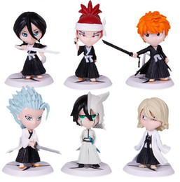 Wholesale mario key - Wholesale-Free Shipping Bleach Series 1Set 6pcs set 7cm2.8''Japana Anime Toy 6 Generation Bleach Pvc Action Figure Christmas Gifts