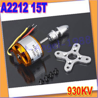 Wholesale Quadcopter Outrunner Motors - Wholesale-free shipping!! 2pcs lot XXD A2212 930KV Brushless Outrunner Motor 15T for RC Aircraft KK QuadCopter UFO